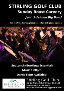Live Big Band Music Adelaide at Stirling Golf Club